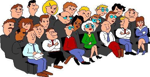 leden vergadering cartoon